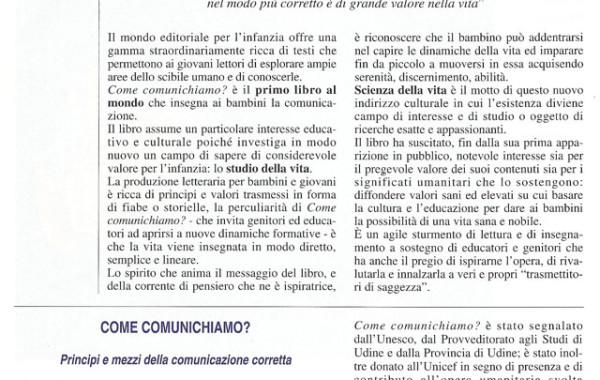 """""""Come comunichiamo"""" – Alpha dimensione vita (pag. 1) , 7 agosto 1998"""