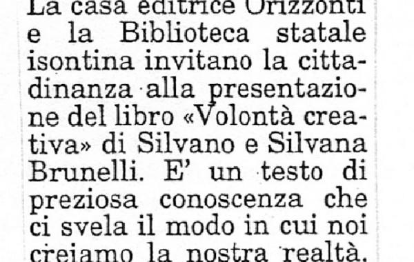 """""""Come creiamo la nostra realtà"""" – il Piccolo, 10 marzo 1998"""