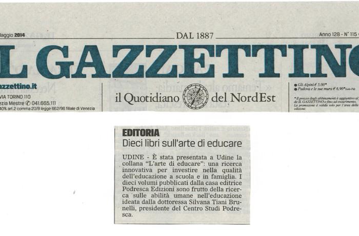 """""""Dieci libri sull'arte di educare"""" – Il Gazzettino, Venerdì 16 Maggio 2014"""