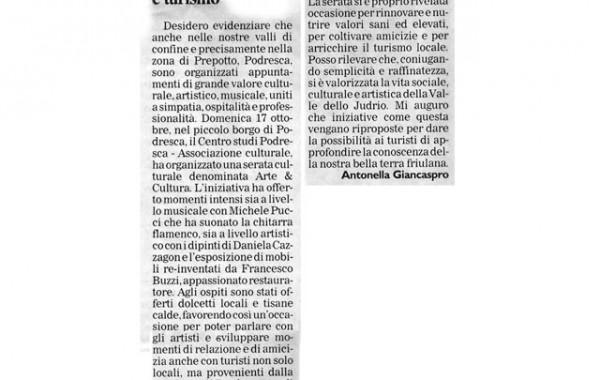 """""""Amicizie e turismo"""" – Messaggero Veneto, 20 ottobre 2004"""