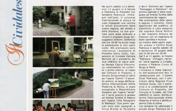 """""""L'ex tempore Podresca"""" – il Cividalese"""