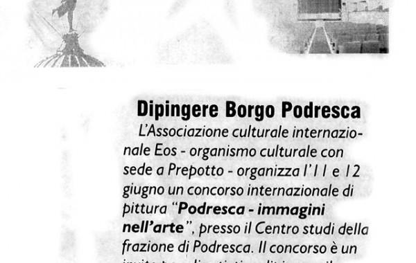 """""""Dipingere Borgo Podresca"""" – il Friuli, 3 giugno 2005"""