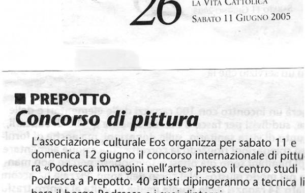 """""""Concorso di pittura"""" – la Vita Cattolica, 11 giugno 2005"""